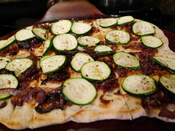 Vegan Flatbread 'Pizza' with Caramelized Onions and Zucchini *knowgirls