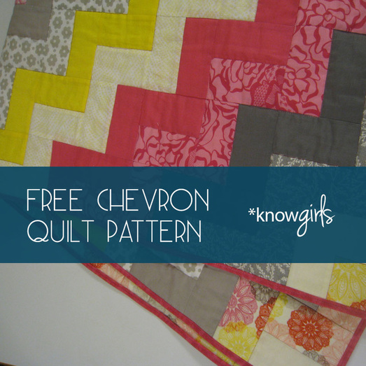 Free Chevron Quilt Pattern from *knowgirls